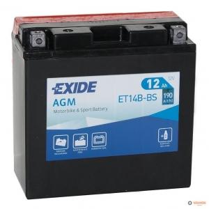 12в 12А EXIDE AGM (ET14B-BS)