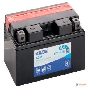 12в 8,6А EXIDE AGM (ETZ10-BS)