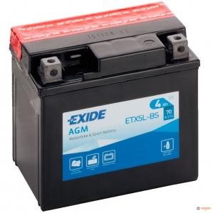 12в 4А EXIDE AGM (ETX5L-BS)